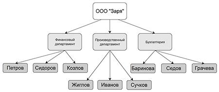 Пример структуры организации